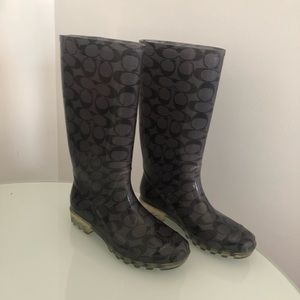 COACH women's Rainboots!!